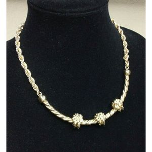 Banana Republic Chunky Rope Knot Collar Necklace